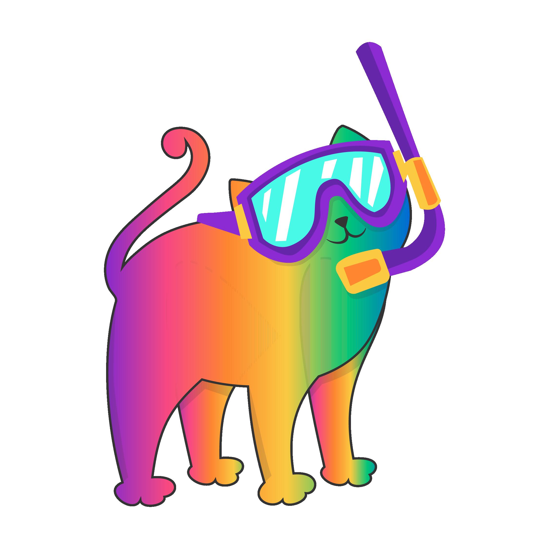 rainbow-snorkel-cat